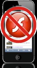 Flash sem suporte mobile